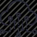 cloud, data, database, internet, network, online, technology icon