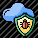 cloud, bug, protection, security, virus, prevention, antivirus