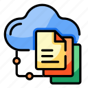 cloud, data, sharing, computing, storage, database, connectivity icon
