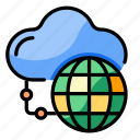 cloud, global, access, network, connection, online, worldwide