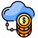 cloud, money, system, business, connection, financial, currency