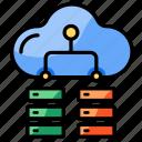 cloud, server, network, database, storage, mainframe, organization