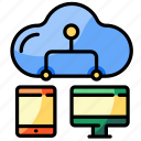 cloud, sharing, device, transfer, connection, technology, responsive