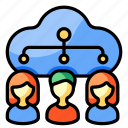 cloud, sharing, people, team, connection, network, corporate