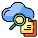 searching, cloud, find, browse, information, magnifying glass, scan