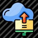 upload, cloud, network, uploading, progress, export, transfer icon