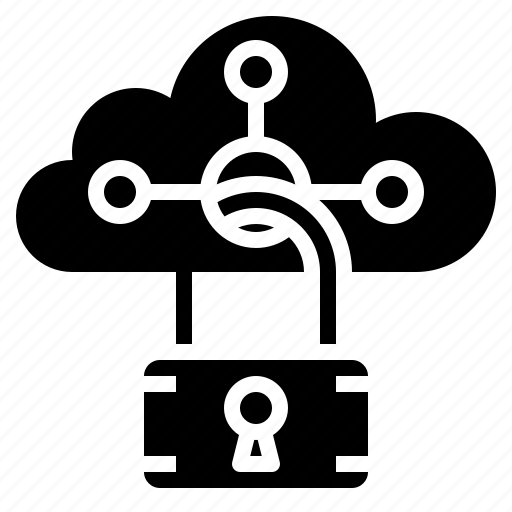 cloud, cloudy, computing, security, sky, weather icon