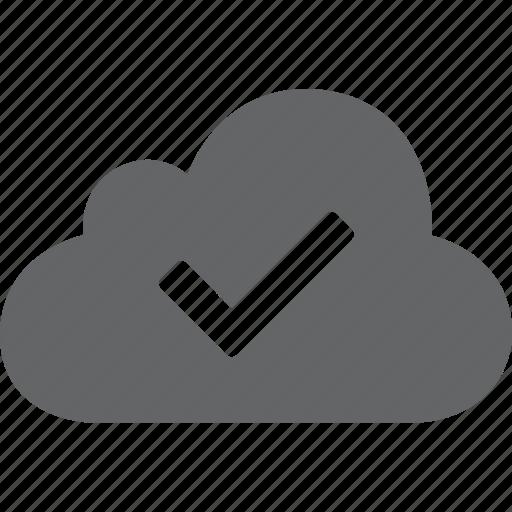 accept, check, cloud, go, right, success, tick icon