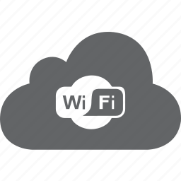 cloud, connection, hot spot, hotspot, signal, wifi, wireless icon