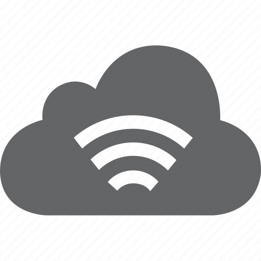 cloud, connection, hot spot, hotspot, network, signal, wifi icon