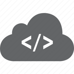 cloud, code, html, markup, program icon