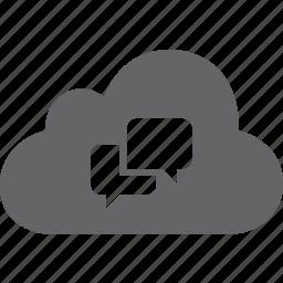 bubble, chat, cloud, comment, communication, message, talk icon