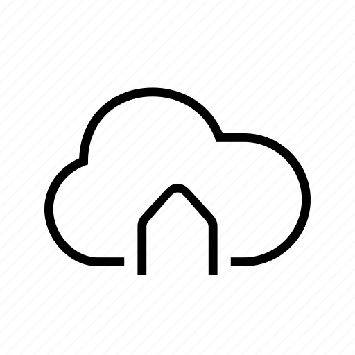 cloud, connected, home, house, smart icon