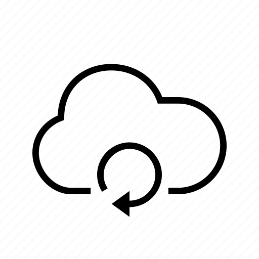 cloud, pending, refresh, spinning, waiting icon