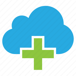 add, cloud, plus icon