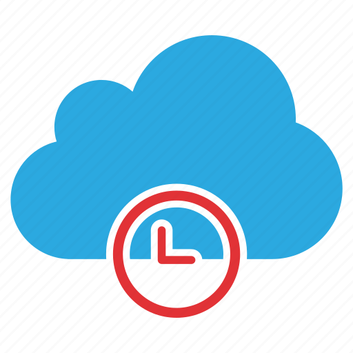 cloud, cock, expired, time icon