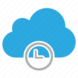 clock, cloud, inactive, time icon