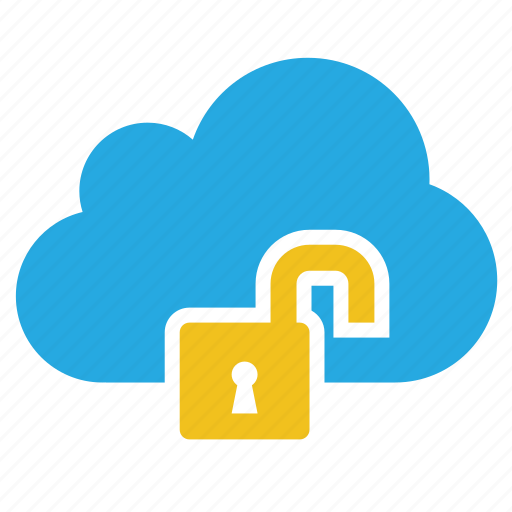 cloud, insecure, risk, safe, unlock, unsafe icon