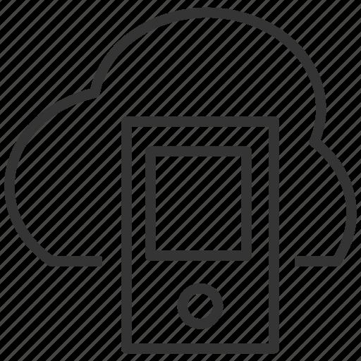cloud, computing, icloud, mobile, phone, upload icon