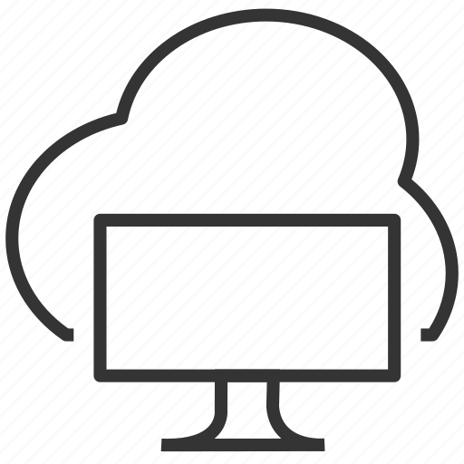 cloud, computer, download, upload icon