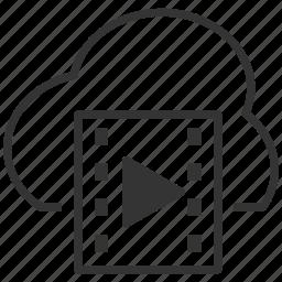 cloud, icloud, multimedia, online, upload, video icon