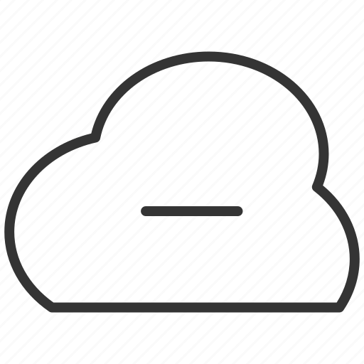 cloud, minus, removecloud, upload icon