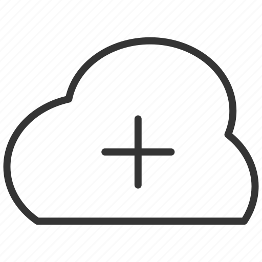 add, cloud, file, plus, transfer, upload icon