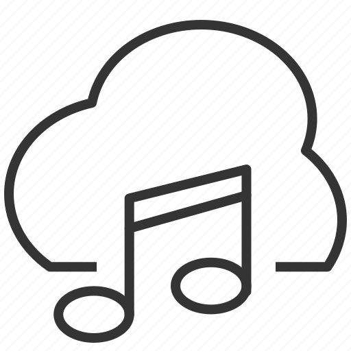 audio, cloud, music, upload icon
