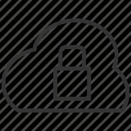 cloud, file, lock, secure, security, upload icon