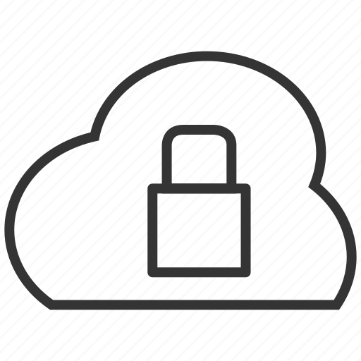 cloud, file, lock, secure, security, upload icon