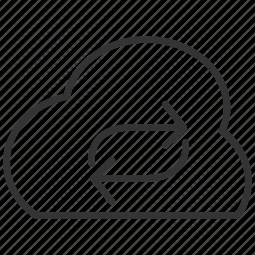 cloud, computing, file, nline, sync, upload icon