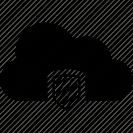 cloud, shield icon