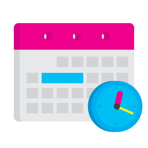 calendat, clock, manage, plan, schedule, strategy, time icon