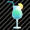 beach, blue, cocktail, food, lemon, party