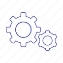 coding, cog, gear, gears, preferences, setting icon