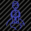 2, coder, coding, developer, freelancer, global, laptop, male, programmer, remote, software icon