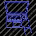 1, bar, coding, development, hand, laptop, macbook, programming, scripting, software, touch, touchbar icon