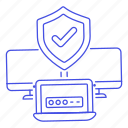 approved, check, coding, device, laptop, mac, mark, password, pc, protection, proteted, security icon