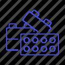 assemble, brick, building blocks, code, coding, link, module, plugin, script, toy bricks icon