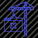 bugs, buildiing, building, coding, construction, crane, down, error, site, web, website icon