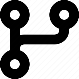 arrow, flow, fork, interface, split icon