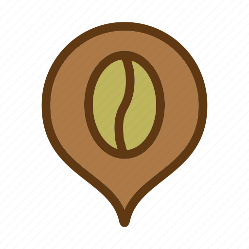 brown, cafe, coffee, drink, location icon