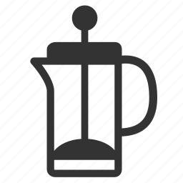 brew, cafe, coffee, coffeemakers, drink, french press, plunger icon