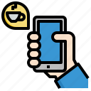 coffee, app, food, smartphone, mobile