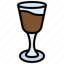 coffee, cocktail, food, cold, glass