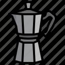 moka, pot, food, coffee, kettle, kitchenware
