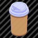 coffee, plastic, cup, isometric