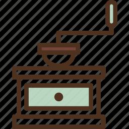 addict, addiction, bean, bean grinder, coffee, coffee grinder, grinder icon