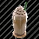 frappe, sweet, caffeine, beverage, chocolate, coffee, cafe