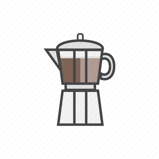 coffee1, coffeemaker, drink, hot, mocapot icon